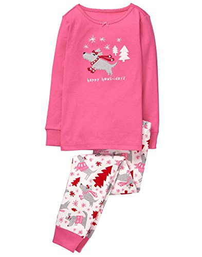 Gymboree Little Girls Graphic Tight Fit Pajamas  Dog  8