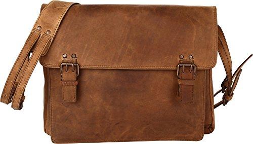 Harold's Antik Casual Messenger Borsa a tracolla Pelle 38 cm compartimente portatile nature