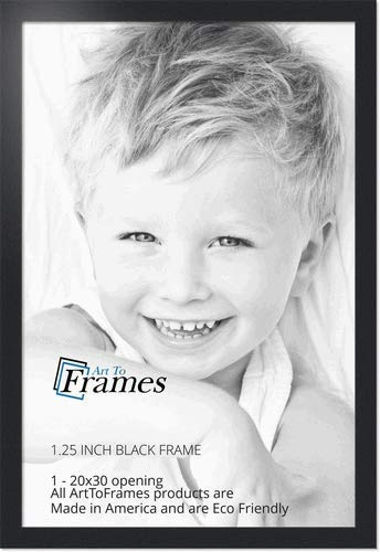 ArtToFrames 20x30 inch Black Picture Frame, WOMFRBW72079-20x30