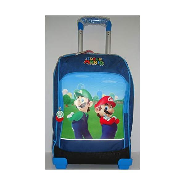 Super Mario Zaino Trolley Scuola 200340 Blù 2 spesavip