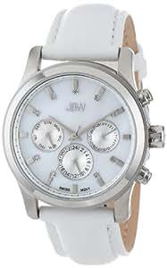 JBW Women's J6270-setA  Diamond Chronograph Leather Band Watch with 2 Extra Bands