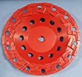 7'' Diamond Cup Wheel S Segment Smooth Aggressive Grinding on Concrete, Coating Removal, Mastics and Epoxies (60/80 Grit)