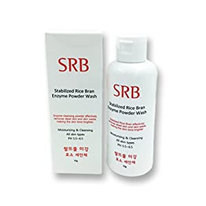 Korean Beauty (SRB) Rice Bran Enzyme Powder Face Wash and Scrub, Deep Cleanses, Evens Tone, Brightens, Exfoliates, Best Value for Quality and Quantity (K-Beauty)