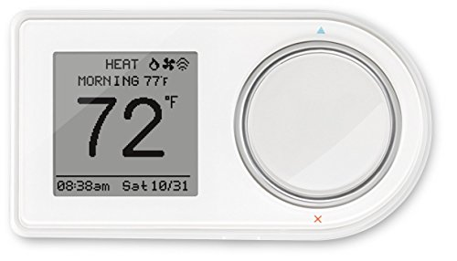 Lux Products GEO-WH Wi-Fi Thermostat, White, Works with Amazon Alexa by Lux