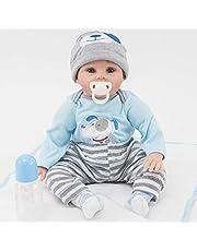ZIYIUI Reborn Docka Realistisk 22 Tum 55 Cm Reborn Doll Silikon Vinyl Baby Dockor Ser äkta Småbarn Pojke Naturtrogen Docka Flicka Pojke Leksaker