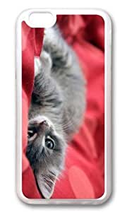 MOKSHOP Adorable kitten cute Soft Case Protective Shell Cell Phone Cover For Apple Iphone 6 (4.7 Inch) - TPU Transparent