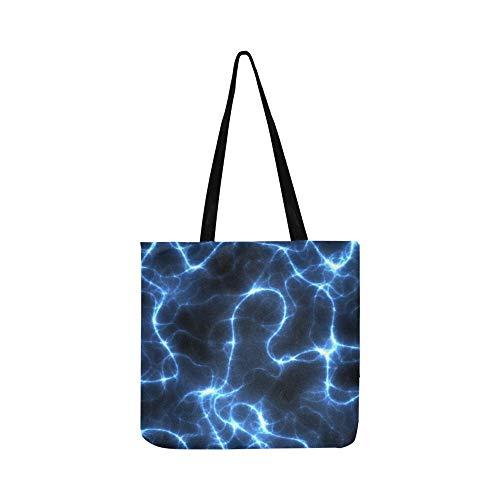 Wheelchair Custom Power (Banner Header Electric Energy Plasma Power Canvas Tote Handbag Shoulder Bag Crossbody Bags Purses For Men And Women Shopping Tote)