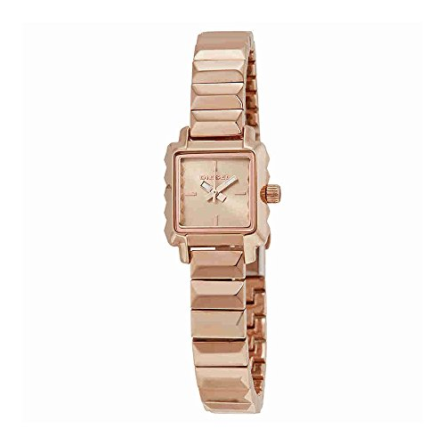 DZ5425 Watch Diesel Women's Ursula Stainless steel case, Stainless steel bracelet, Rose gold dial, Quartz movement, Scratch resistant mineral, Water resistant up to 5 ATM - 50 meters - 165 feet