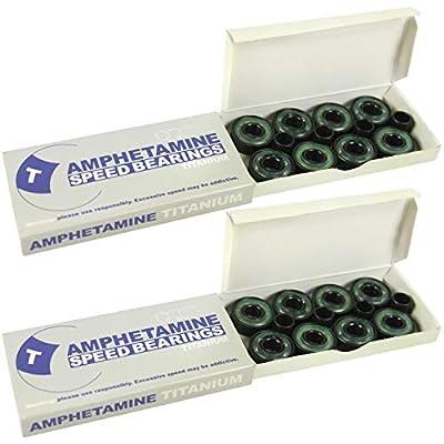Amphetamine Titanium ABEC 7 Inline Skate Hockey Bearings Set (16) : Skateboard Bearings : Sports & Outdoors