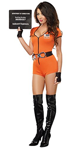 Sexy Locked Up Inmate Costume, Womens Prisoner (Sexy Female Prisoner Costumes)