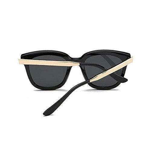 Aoligei Mode gros Frame lunettes de soleil européen et rétro de lunettes tendance American metal jambe couleur lunettes de soleil de film A