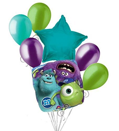 7 pc Monsters Inc. Mike Sully Balloon Bouquet Party Decoration Disney Birthday -