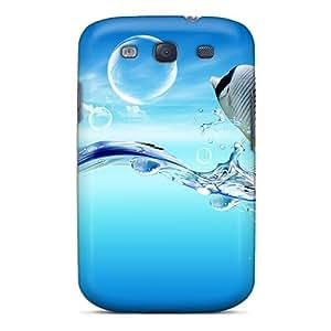 Premium Tpu Fish Dreamy World Cover Skin For Galaxy S3