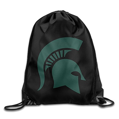 YYHU Michigan State University Drawstring Backpack Bag Sack Bag - Great For Travel And Everyday (2)