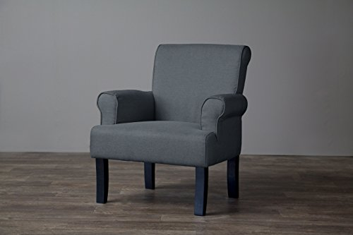 Baxton Studio Classics Collection Wing Chair, Gray