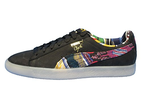 (PUMA COOGI Men Clyde Coogi FS (14, Black Team Gold))