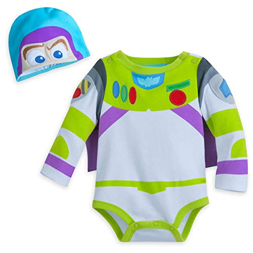 Toy Story Buzz Lightyear Baby Costume & Hat Disney (12-18M) Green ()