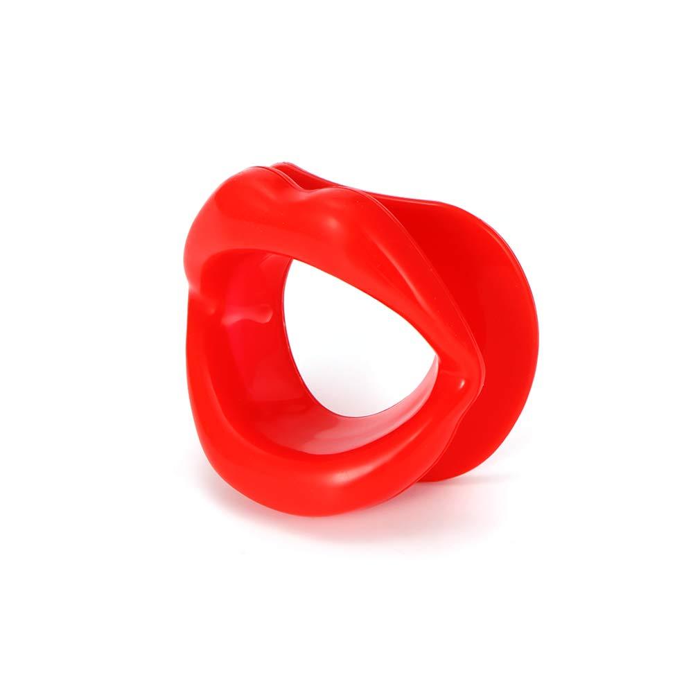 OurLeeme 1PCS silicone funzionale gomma viso più sottile esercizio di bocca Muscle Antirughe Rosso