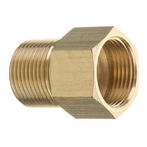 Mingle Pressure Washer Coupler, Metric M22 15mm Male Thread to M22 14mm Female Fitting, 4500 PSI (Coupler Male Adapter)