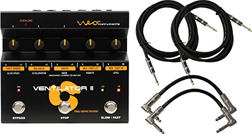 Neo Instruments Ventilator II Rotary Speaker Simulator Pedal for Guitar/Keyboard with 4 Cables by Neo Instruments
