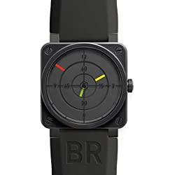Bell and Ross Aviation Radar Black Dial Black PVD Stainless Steel Rubber Automatic Mens Watch BR0192RADAR