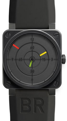 Bell-and-Ross-Aviation-Radar-Black-Dial-Black-PVD-Stainless-Steel-Rubber-Automatic-Mens-Watch-BR0192RADAR