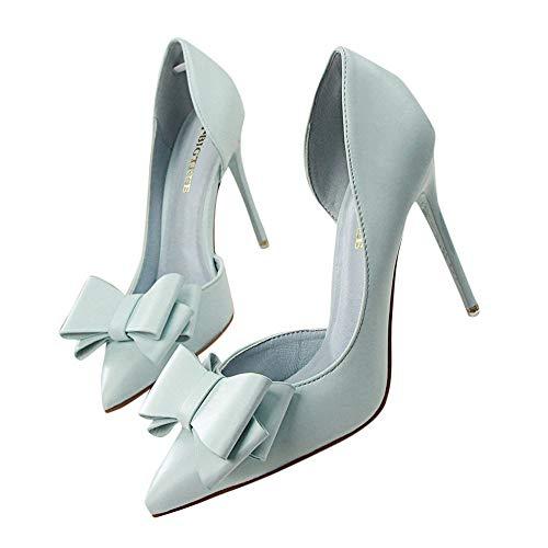 C Alti asia Con SizeScarpa Donna Estremamente Tacchi Beikoard Sexy Sottili Cielo Blu Scarpe Da f7IYyvmbg6