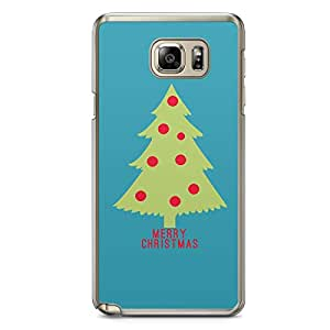Cristmas Tree Samsung Galaxy Note 5 Transparent Edge Case - Christmas Collection