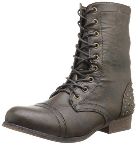 Paris Lace Up Gallyyy Women's Girl Boot Brown Madden UHxTS0qwU