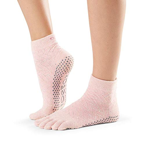 toesox Women's Ankle Full Toe Grip, Chill Medium