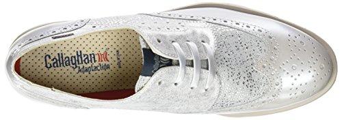 Callaghan 89813, Zapatos de Cordones Derby para Mujer Plateado (Platino)