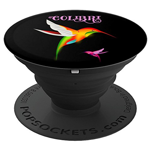Two Colorful Hummingbirds - Colibri in Flight - PopSockets Grip and Stand for Phones and Tablets