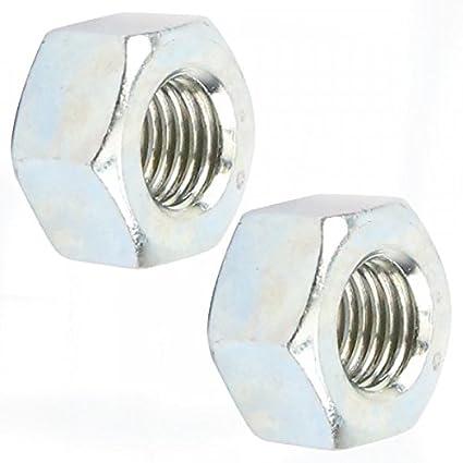 ECROU PAS A GAUCHE 8x1,25 9x1,25 10x1,00 10x1,25 10x1,50 12x1,50 12x1,75 DEBROUSSAILLEUSE TONDEUSE TRACTEUR FILETAGE METRIQUE 8x1.25