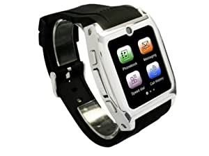 Homego Smart Wrist Watch GSM Phone Camera Bluetooth Java Sync With Android Mobile Phones Black
