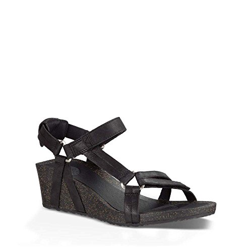 Teva Women's W Ysidro Universal Wedge Sandal, Black, 8 M US by Teva (Image #1)