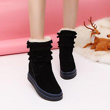 RTRY Zapatos De Mujer Otoño Invierno De Tela Plana Mid-Calf Confort Botas Botas De Tacón Negro Marrón Ocasional US8 / EU39 / UK6 / CN39