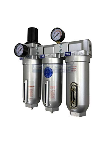 EDGE Industrial 3/4 HEAVY DUTY 3 STAGE COMPRESSED AIR CLEANER DRYER REGULATOR FILTER COALESCING OIL REMOVING DESICCANT