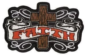 Novelty Iron On Religious Christian Faith Patch -