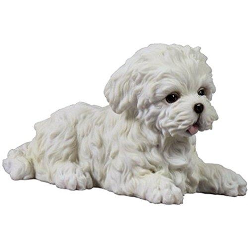 Maltese Dog Figurine (Maltese White Terrier Puppy Dog Animal Figurine # 75404)