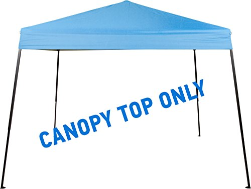 Square Replacement Canopy Gazebo Top for 10′ Slant Leg Canopy – 8′ x 8′ – By Trademark Innovations (Light Blue)