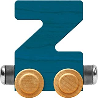 product image for Maple Landmark NameTrain Bright Letter Car Z - Made in USA (Blue)