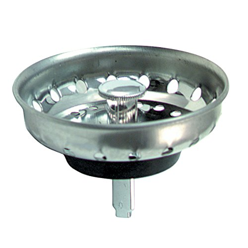 BrassCraft Kitchen Sink Basket Sink Strainer with Post for 3-1/2-Inch Drains, Chrome by BrassCraft Mfg