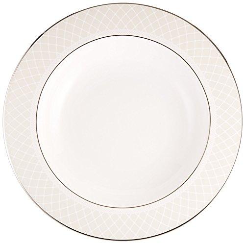 Platinum Rim Soup Plate - Lenox Venetian Lace Pasta Bowl/Rim Soup