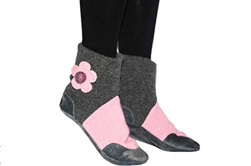 4ffbc0a53e61f Amazon.com: Women Cashmere Slipper Boots, Women Leather Shoes, Eco ...