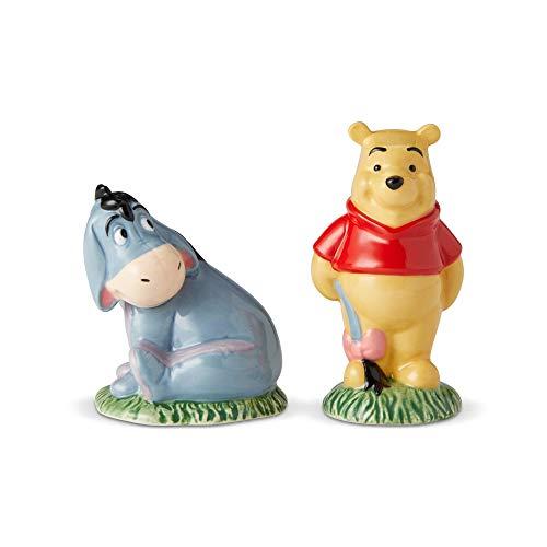 Enesco 6002272 Disney Ceramics Winnie the Pooh and Eeyore Salt and Pepper Shakers 3.6