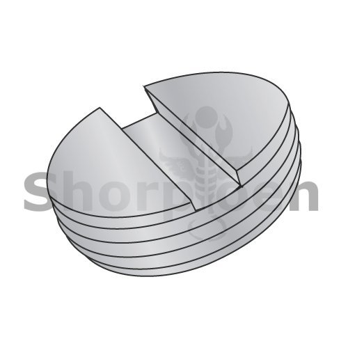 Slotted Pipe Plug Die Cast Zinc Alloy 1/2-14 (Box of 1000) weight13.5Lbs by Korpek.com