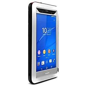 MTP Sony Xperia Z3 Powerful Hybrid Funda, Ultra HARD CASE, Funda EXTRA Dura, Hard Cover, Carcasa Rígida, PowerCover - Plateado