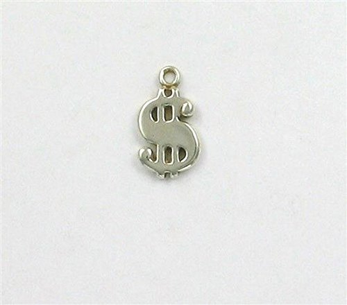 Sterling Silver Dollar Sign Charm Jewelry Making Supply, Pendant, Charms, Bracelet, DIY Crafting by Wholesale Charms