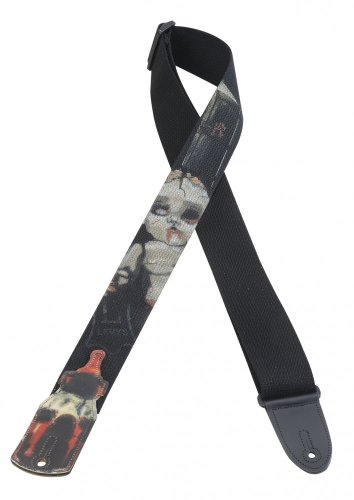 Levys Guitar Strap, MC8PZ-002, 2 Cotton w/ Printed Zombie De