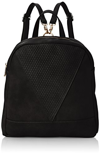 POVERTY FLATS by rian Raised Dot V Backpack, Black, One Size (Flats Poverty)
